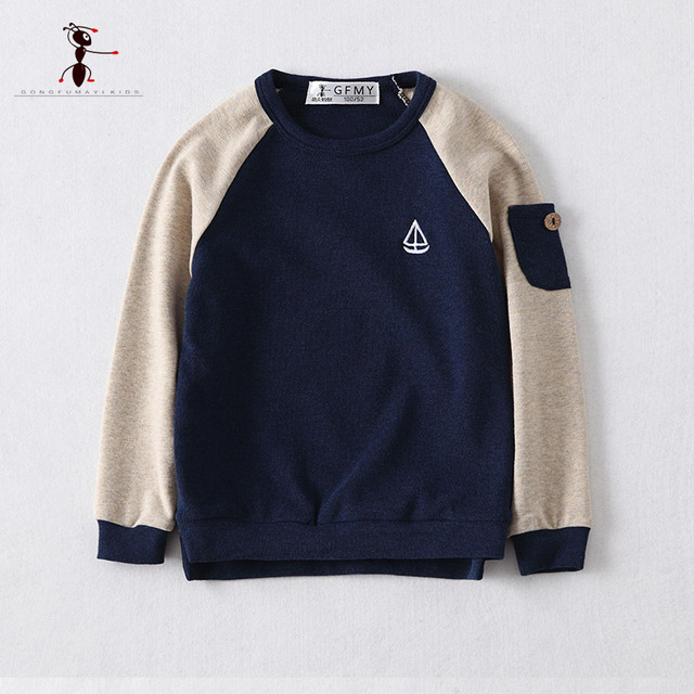 2017 New Arrival Navy Gray O-neck Thick Sweatshirt Kids Clothes Moleton Infantil Roupas Infantis Menino Hoodies  2625