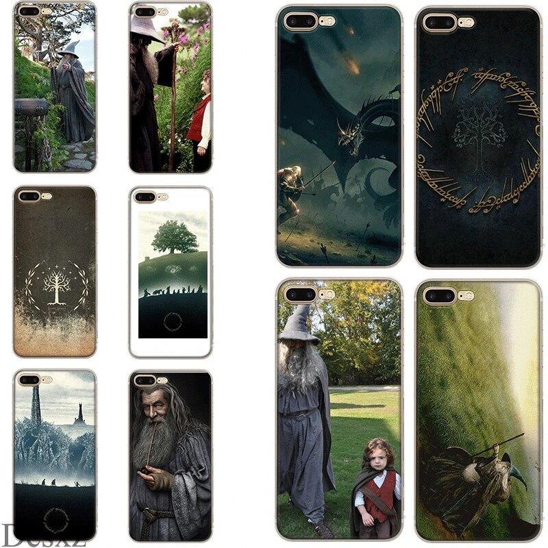 Coque de téléphone seigneur des anneaux Hobbit Gandalf housse pour iPhone 5 5s SE 6 6s 7 8 Plus X XS XR Max coque