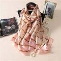 2017 new spring and summer women scarf print plaid silk scarves female Pashmina Shawl  echarpe soft foulard women's Bandana