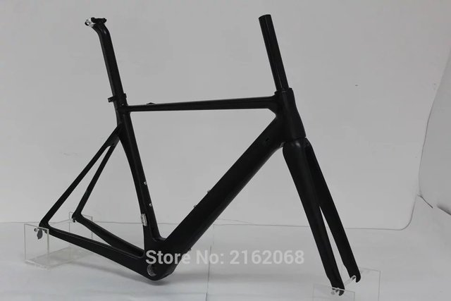 Cheap Newest 700C Road racing bike matte UD full carbon fibre bicycle frame carbon fork+seatpost+clamp+headsets parts Free shipping