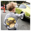 ins* newest 2016 unisex baby boys girls cotton baseball jackets fox pattern kids autumn full sleeve coats 1-5Y high quality
