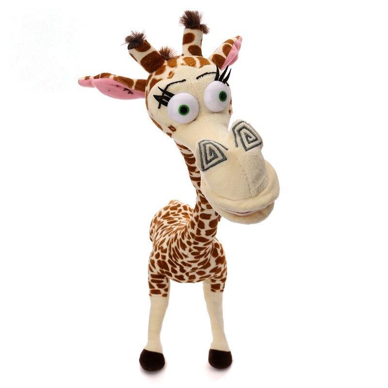 "ФОТО 1pcs 12"" 35cm long neck giraffe stuffed plush toy madagascar 3 cute deer doll for kids high quality"