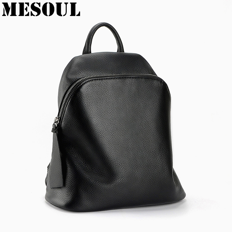 Mochila 100% Genuine Leather Backpack Women Designer Bags Rucksack High Quality Soft Cow Leather School Bags For Teenagers Girls senkey style designer backpack men high quality 2017 waterproof leather retro laptop backpack women school bags for teenagers
