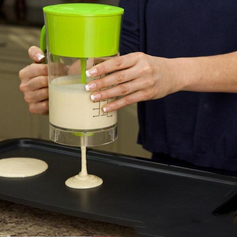 Schnelle Automatische Küchenmischbecher Crêpière Express Pfannkuchenteig Spender Cupcake Baking Essentials-kuchenteig Werkzeuge mit Farbe Box