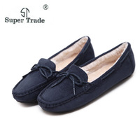 ST SUPER TRADE Casual Women Flats Shoes Winter Plus Velvet Flats Female Moccasin Shoes Women S