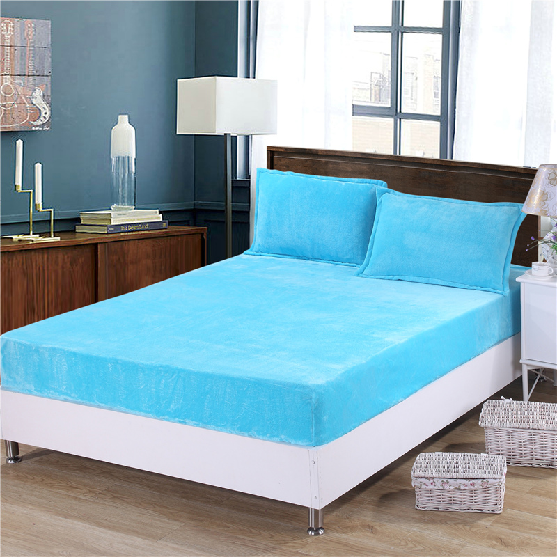 Aliexpress Free Shipping High Quality Rubber Band Mattresses Protector For Beds Soild Printed Flannel Cover On The Mattress R 230 From Reliable