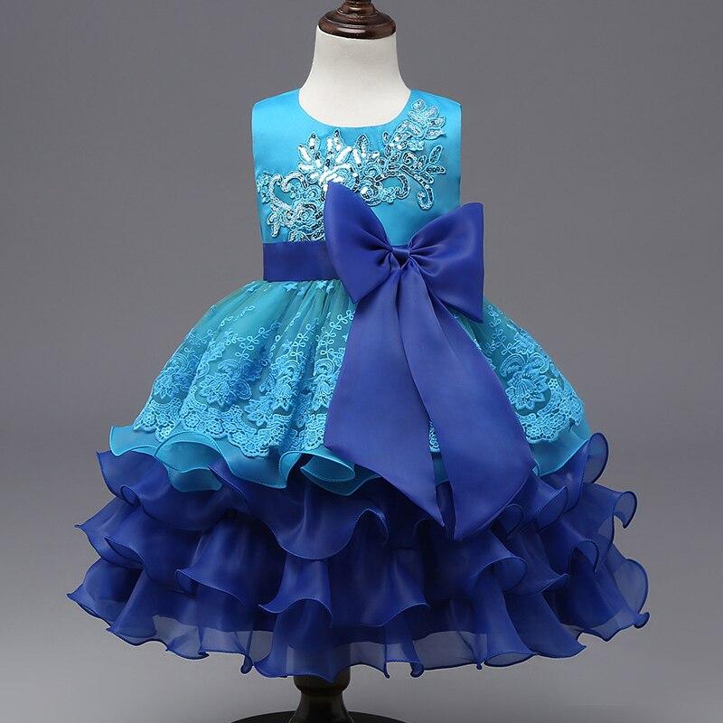 08c82e676 Kids Dresses For Girls 3 8Years 2017 New Design Flower Girl Dresses ...