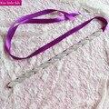 XW72  Free shipping Luxury Hand made sashes for wedding dresses rhinestone crystal bridal belt for wedding dress12 colours