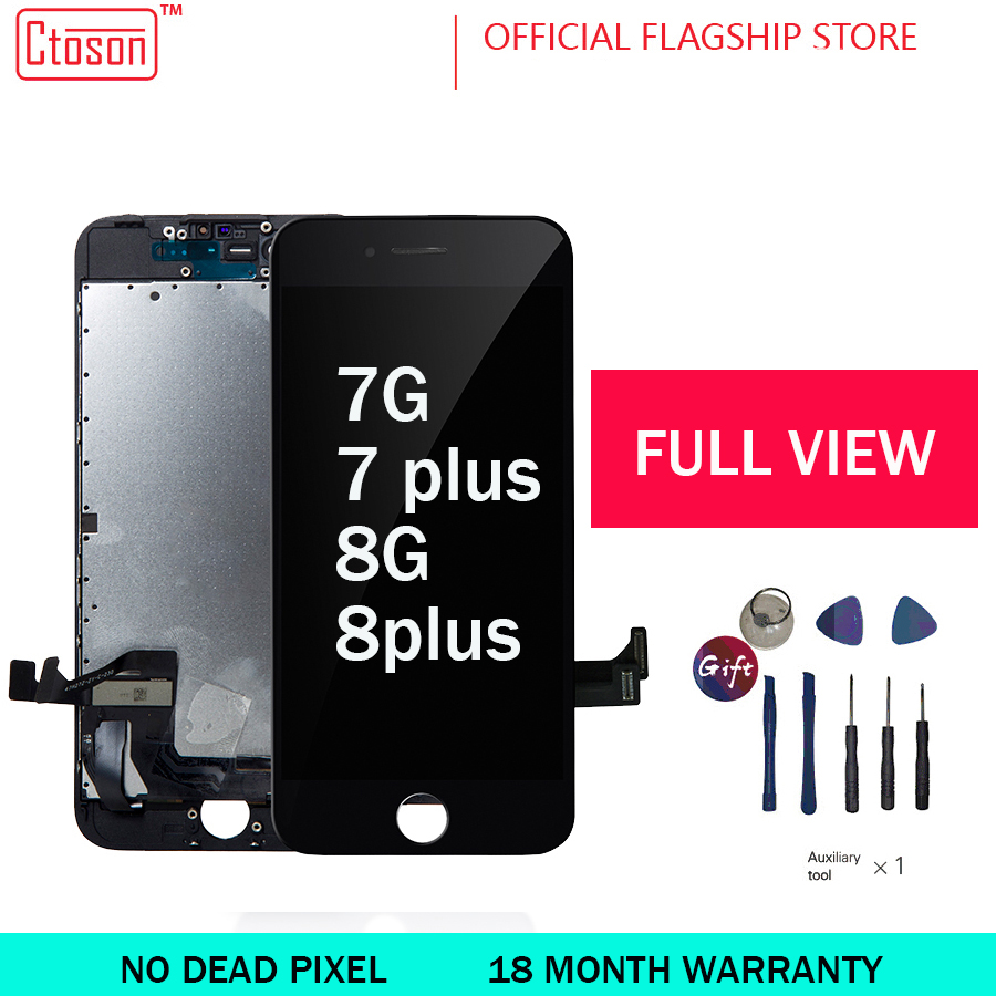 Ctoson LCD Display For IPhone 7 8 3D Touch Screen Full