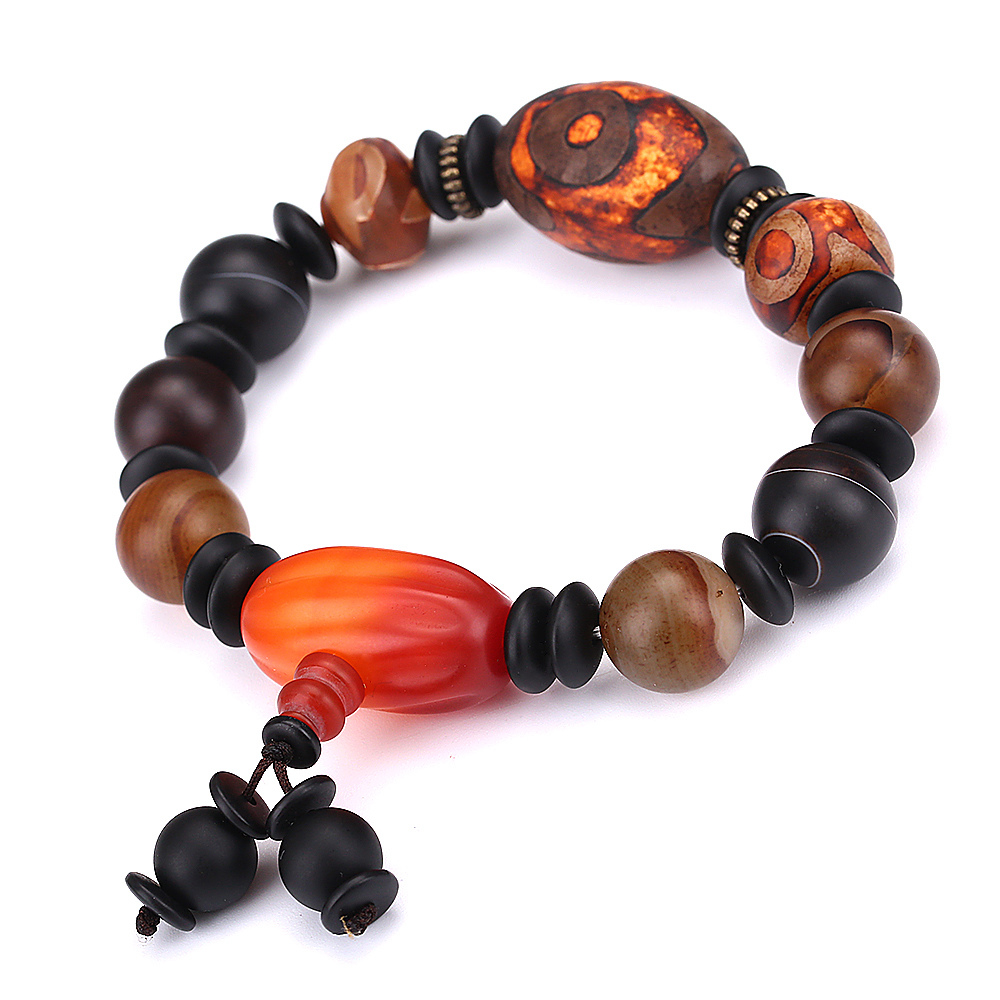 Tianzhu Tibet AAA Men Bracelet Natural Stone Agate Bracelet Certified Level Power Chakra Healing Beads Jade Bracelet For Women