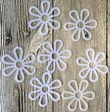 White Hand-woven DIY accessories / handmade bag six-petal chrysanthemum flower plastic patches scrapbooking 20PC/LOT A101
