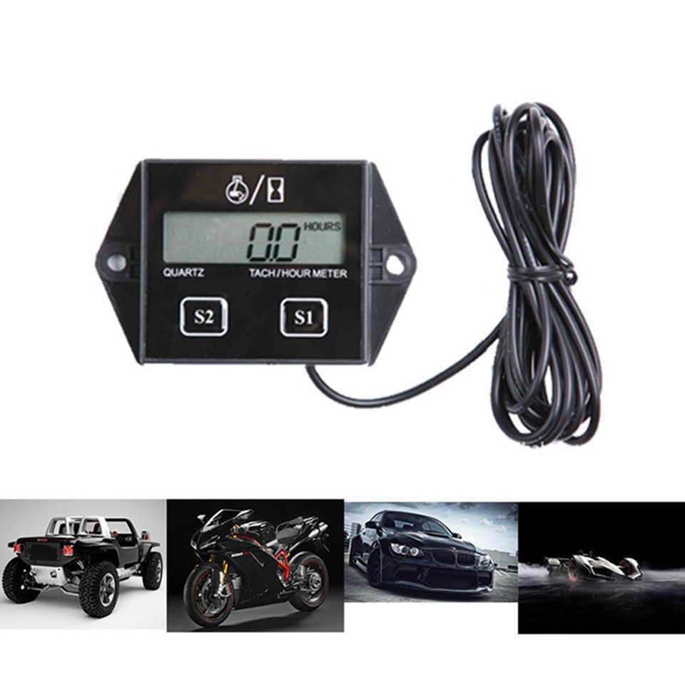Heißer verkauf Digitale Motor Tach Stunde Meter Tachometer-lehre Induktive Display Für Motorrad Motor Marine kettensäge pit bike Boot