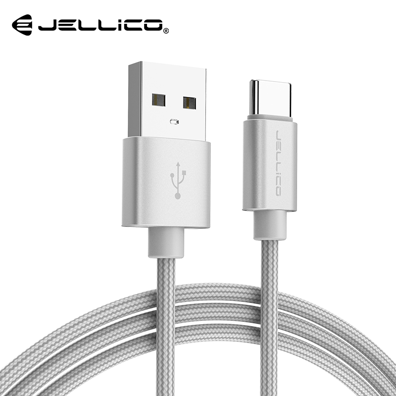 Jellico USB Type-C Cable For Samsung Note8 S8 Xiaomi MiA1 Mobile Phone Type C Cable Fast Charging Cable USB Type C Charger Cable image