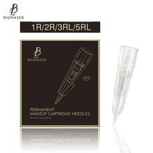 Biomaser Professional Permanent Makeup Cartridge Needles 1R/2R/3RL/5RL Disposable Sterilized Tattoo Pen Machine Tips