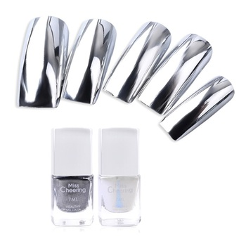 Silver Mirror Nail Polish Base Coat Peel Off Metal Nail Varnish Metallic Manicure Nail Art Polish Nail Polish