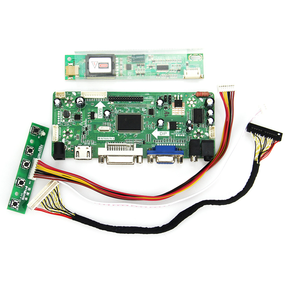 Controller Driver Board M.NT68676 LCD/LED For B170PW01 LP171WP4 (HDMI+VGA+DVI+Audio) 1440*900