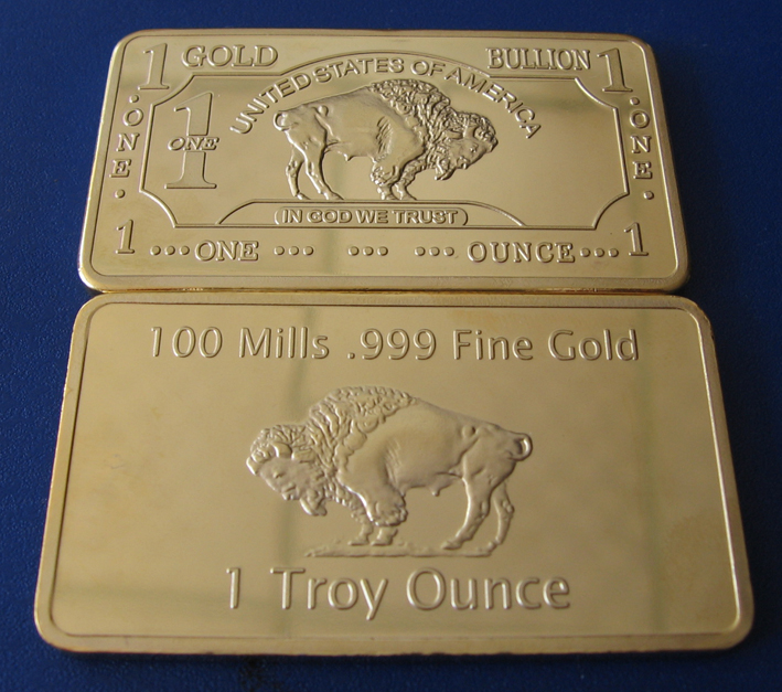 Cmc Mint Fabriek Prijs A140 Een Troy Ounce 1 Oz 100 Mills 999 Fine Vergulde Buffalo Bar In