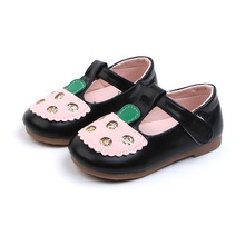 New 2019 Baby Girls Rhinestone Soft Bottom Mary Jane Shoes Children Dress for Kids Pu Leather