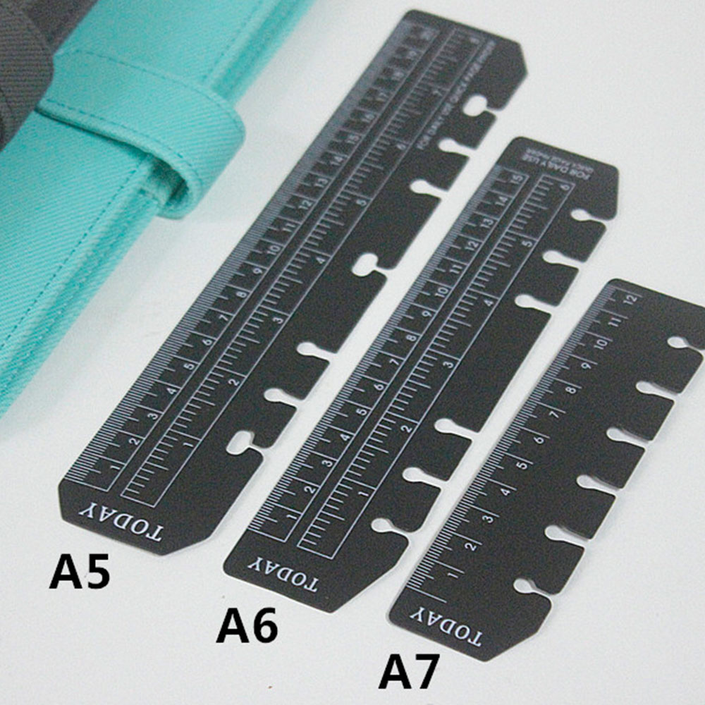 Bookmark Ruler 6 Hole Ring Notebook Notepad Accessories A5 A6 A7 PP Plastic Ruler Partition Planner And Organizer Sketchbook