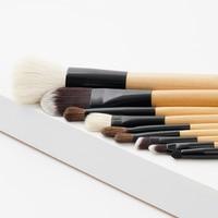 9 Unids/set Pinceles de Maquillaje Profesional Set Maquillaje Kit de Cepillo Cosméticos Conjunto de Herramientas Para la Base En Polvo Ceja de fibra De Madera De Bambú