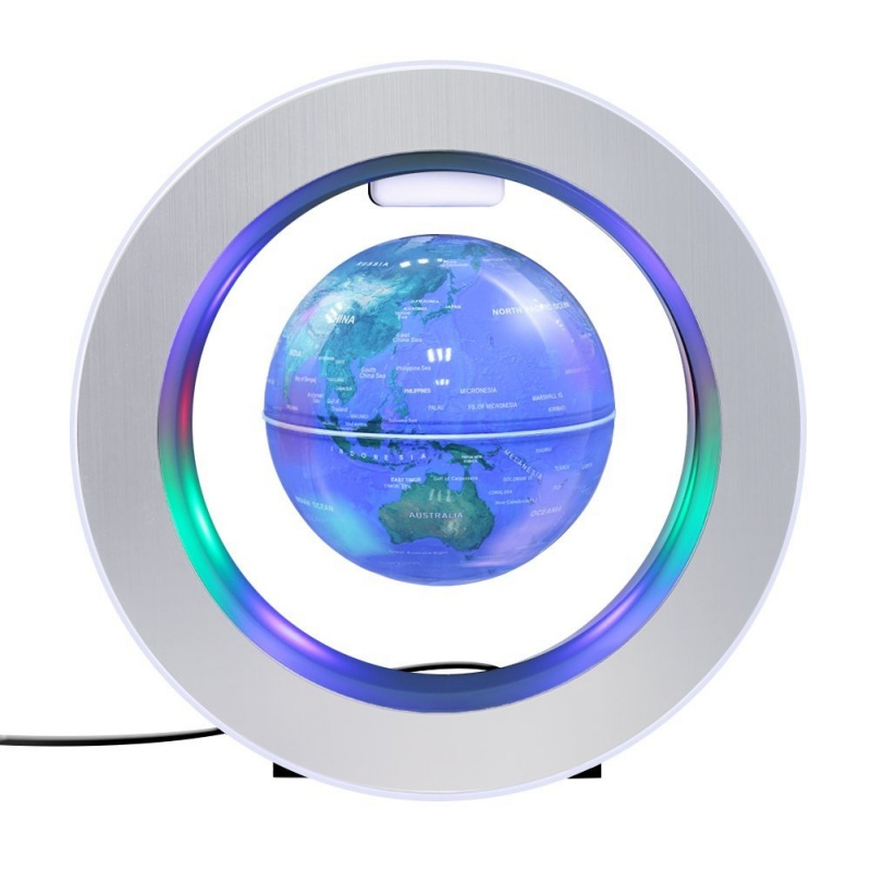 Desk Decoration Table Lamp Magnetic Levitation Floating World Map Globe LED Lights Round Base For Learning Education Home Office floating globe magnetic levitation floating globe world map with led lights for children gift home office desk decoration