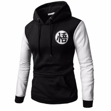 2018 New Anime Hoodies Dragon Ball Z Pocket Hooded Sweatshirts Goku Hoodies Pullovers Men Women Long Sleeve Outerwear New Hoodie