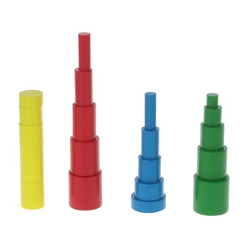 Montessori Wooden Cylinders Educational Toys Kids Children Early Teaching Gift Puzzle Toys W15 kids toys montessori wooden toys multiplication table baby early educational toys arithmetic teaching aids math toy for children