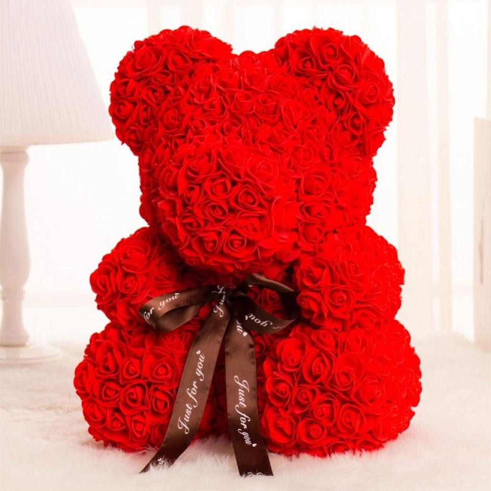 DIY розовый медведь наборы пены розовый медведь плесень Свадебная вечеринка украшения подруга юбилей день Святого Валентина подарок - Цвет: Rose