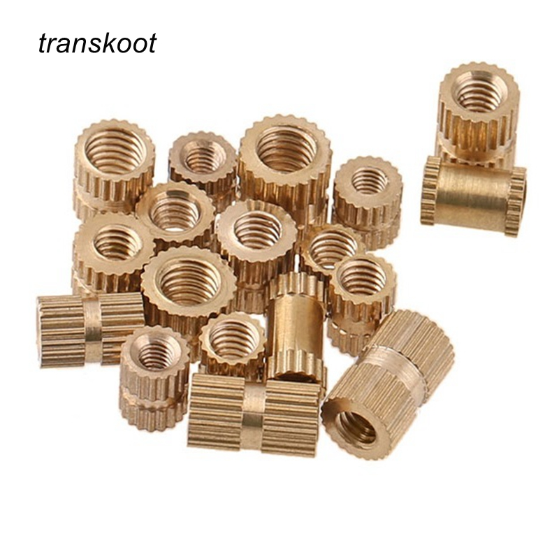 50pcs M1 M1.2 Plastic Circular Knurled Pre Embeded Nut Brass Insert Nut Knurled Round Nut for Injection Mould or Phone upscale and fashion camera enclosure plastic injection mould