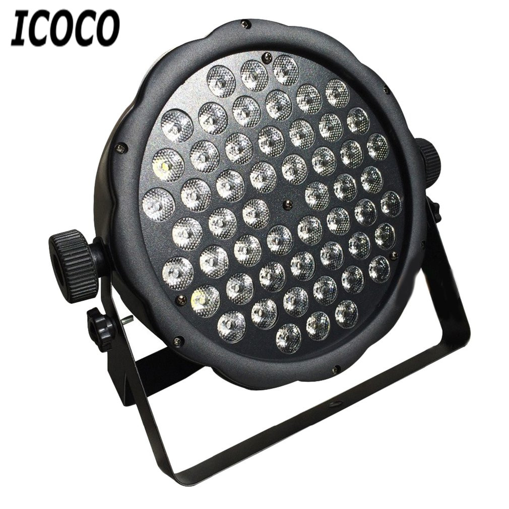 ICOCO 54 LEDs 1W Plastic Par Light Disco Stage Club Party KTV Show Flat Equipment Bright Light Spotlight Sound Controller SaleICOCO 54 LEDs 1W Plastic Par Light Disco Stage Club Party KTV Show Flat Equipment Bright Light Spotlight Sound Controller Sale