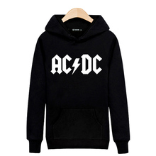 Rock Music AD/DC Black/Gray Hooded Hoodies Men and Hip Hop High Quality cotton Sweatshirts in Long Sleeve Hoodies boy 3xl