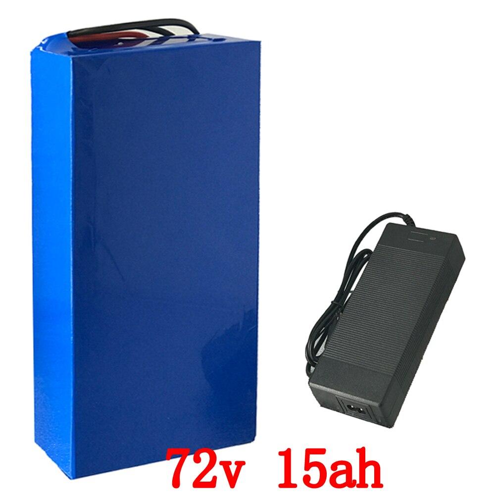 72 V 15AH 72 v 2000 w bateria de lítio bicicleta elétrica da bateria 72 v 15ah lithium ion battery pack com BMS e carregador 84 V 2A 40A