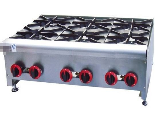 Gas Range With 6 Burners Table Top Gas Stove With 6 Burner Commericial Gas  Fryer Multi Cooker Gas Cooktop