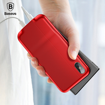 Baseus Audio Case For iPhone X with Earphone Headphone Adapter Splitters Aux Case For iPhone X Suport Music Calling Charging