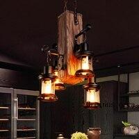 Один промышленный ветровой вал творческая личность ретро ресторан бар магазин одежды деревянные лампы