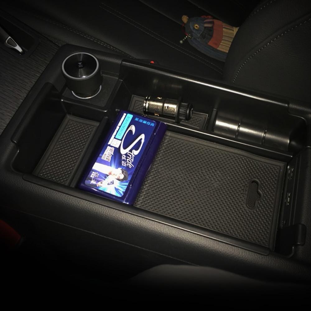 Fit For 2016 2017 Audi A4 B9 Storage Box Arm Rest Center Console Glove Armrest Pallet Bin Tray ...