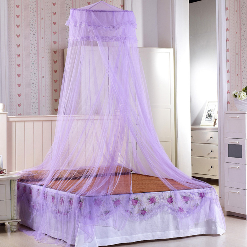 Elegant Round Top Mosquito Net Dome Top Princess Bed Canopy Bed Curtain Netting Home Bed ...