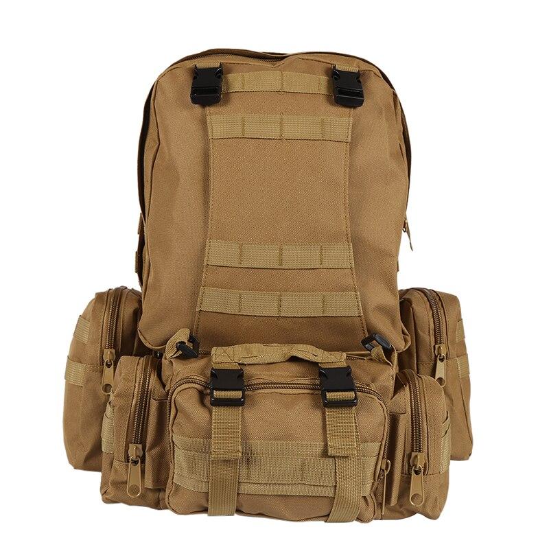 Sac à dos en Nylon 600D imperméable à l'eau en plein air armée d'assaut Molle militaire sacs à dos tactiques voyage Camping randonnée survie chasse Ba