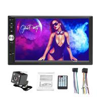 USB Devices 7 Double 2 DIN Car MP5 MP3 Player Bluetooth Touch Screen Stereo Radio Camera Rear View Camera Support 32GB TF