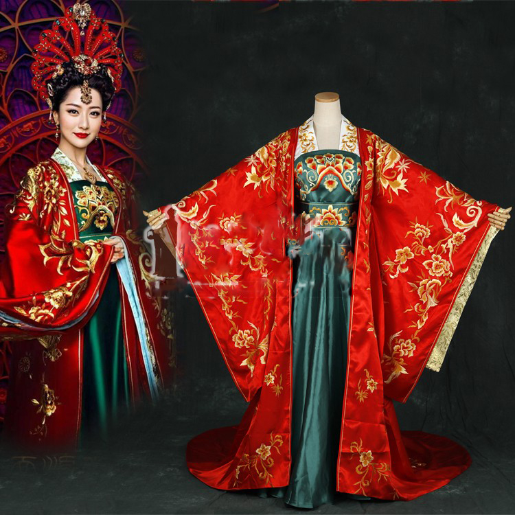 Chinese Style Aesthetic Embroidery Costume Hanfu Princess Empress Costume For TV Play Phoenix Warriors- Legend Of Heavenly Tear