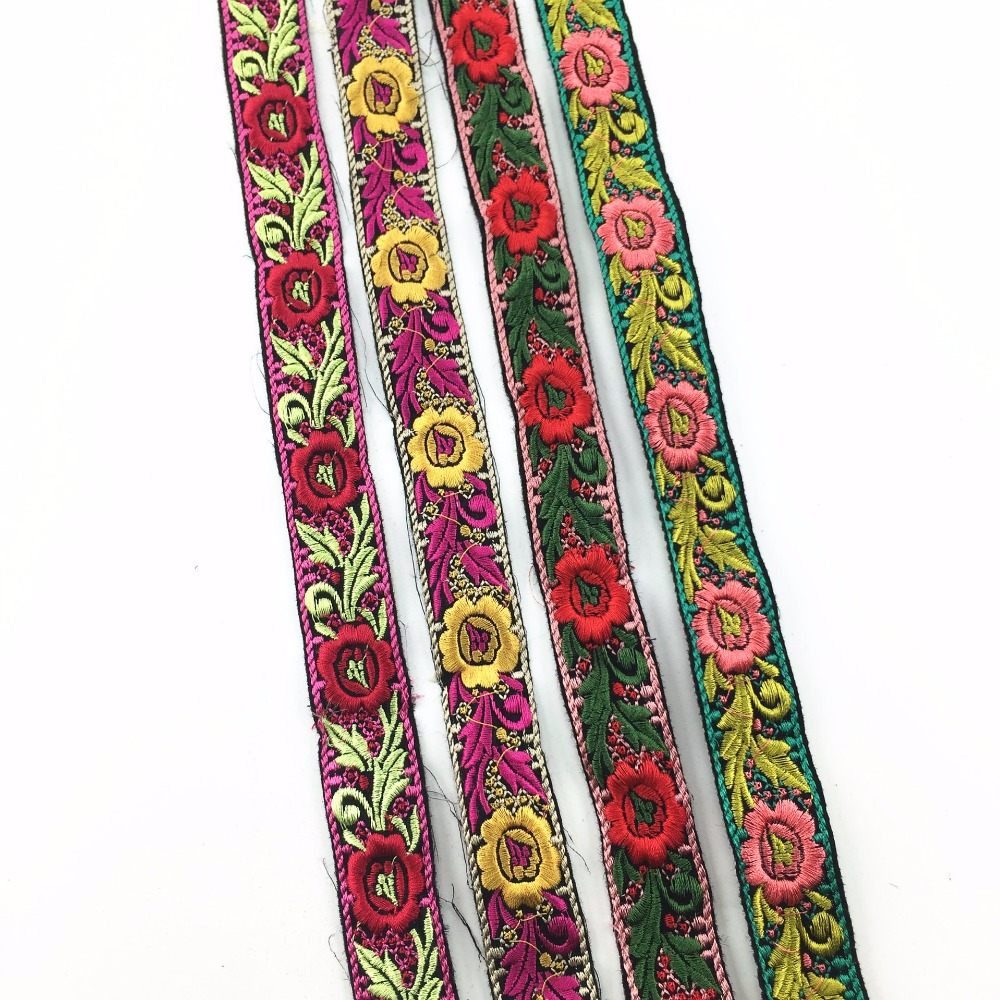 Lace 3 Yards Width 2.6cm Daisy Flower Embroidered Lace Jacquard Boho Clothing Accessories Diy Garment Ribbons Decorations Arts,crafts & Sewing