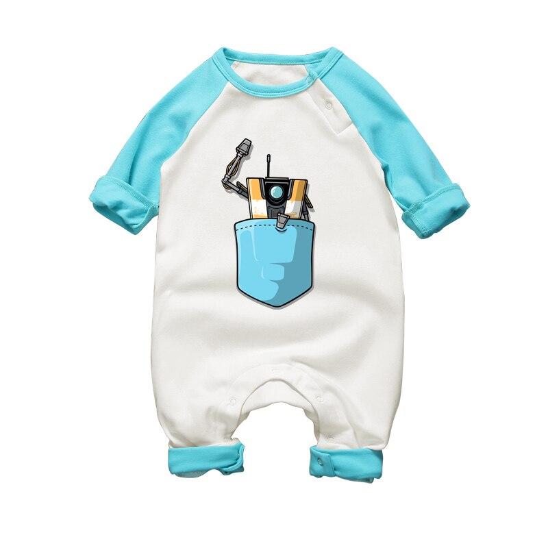 Nyfödda Baby Boy Vinterrockar Långärmad Robotryck Kläder Småbarn - Babykläder