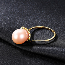 Freshwater Pearl Ring Vintage 925 Sterling silver rings  Natural Pearl  Fine Jewelry Adjustable 925 ring hyperbole Freshwater daimi 925 silver pearl ring double ring design freshwater pearl five pearl rings