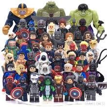 Classic toys sequel Marvel LegoINGlys Action figures Models Superman Batman iron Man Hulk Building Blocks DIY children's gifts