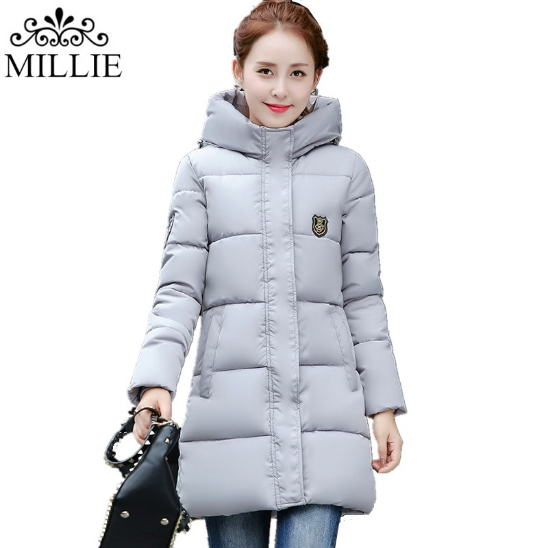 2016 Winter Thickening Women Parkas Women's Wadded Jacket Outerwear Women Fashion Coat Slim Fit Lady Hooded Jacket
