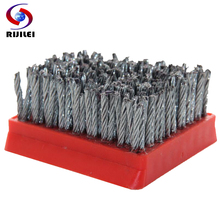 цена на RIJILEI 10PCS/Set Steel Wire Brush Marble Abrasive Brushes Frankfurt Antiquing Abrasive Brush for stone Processing Cleaning YG02
