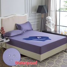 Waterproof Mattress Protector Cotton Fitted Mattress Pads Anti-dust Mite Hypoallergenic Mattress Covers Protector Cover