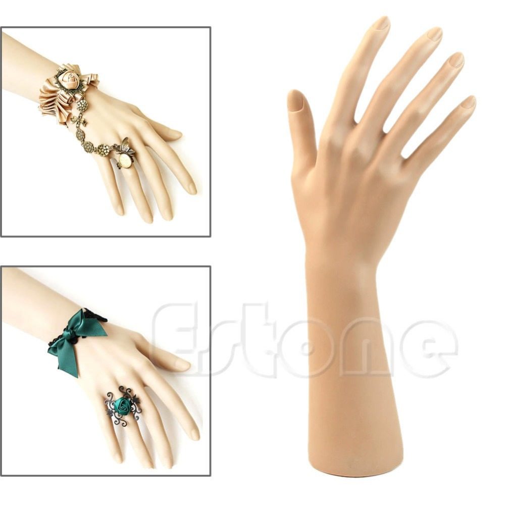 New 1Pc Nail Art Fake Model Watch Ring Bracelet Gloves Stand Display Mannequin Hand Hot Sale