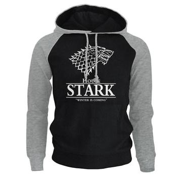 2018 Raglan Hoodies For Men House Stark The Song of Ice and Fire Winter Is Coming Men's Sportswear Game Of Thrones Sweatshirt 1