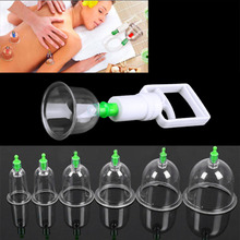 12 pc/Set  Medical Vacuum Cupping with Suction Pump Suction Therapy Device Set herapy Kit body relaxation healthy Massage set